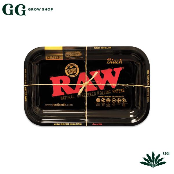 Raw Bandeja Negra Chica - Garden Glory Grow Shop