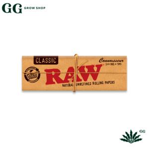 Raw Connoiseur 1 1/4 + Tips - Garden Glory Grow Shop